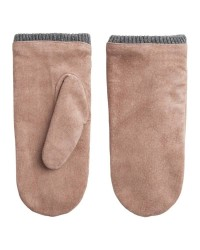 Pieces Jakima suede mittens (LYSEBRUN, L)
