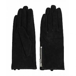 Pieces Jamista suede glove (SORT, L)