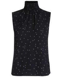 Pieces Karley t-neck top (BLÅ, S)