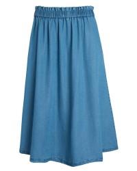 Pieces Katinka skirt (Denim, L)