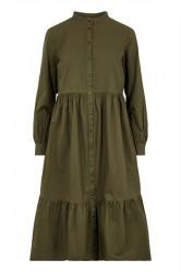 Pieces - Kjole - Cilla Midi Dress - Forest Night