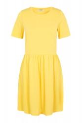 Pieces - Kjole - Kamala SS Dress - Lemon Drop