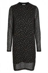 Pieces - Kjole - PC Agna LS Dress - Black