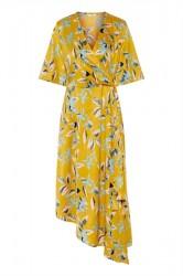 Pieces - Kjole - PC Agnete 2/4 Dress - Arrowwood Big Flower