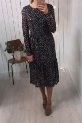 Pieces - Kjole - PC Amelia LS Mesh Dress - Black
