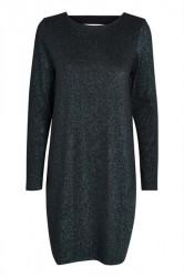Pieces - Kjole - PC Annabella Glitter Deep Back Dress - Turquise Lurex