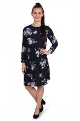 Pieces - Kjole - PC Ariel Dress - Navy Blazer/Flower