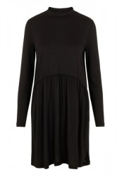 Pieces - Kjole - PC Berta LS Turtleneck Dress - Black