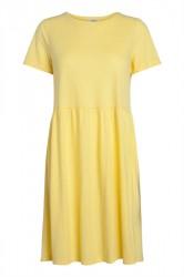 Pieces - Kjole - PC Berta SS Dress - Lemon Zest