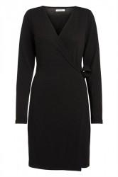 Pieces - Kjole - PC Darcy LS Wrap Dress - Black