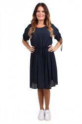 Pieces - Kjole - PC Elia Dress - Navy Blazer