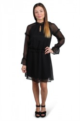 Pieces - Kjole - PC Elom LS Dress - Black