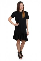 Pieces- Kjole - PC Epima SS Dress - Black
