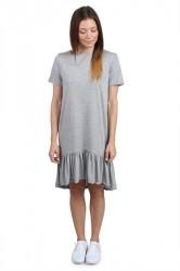 Pieces Kjole - PC Epima SS Dress - Light Grey Melange