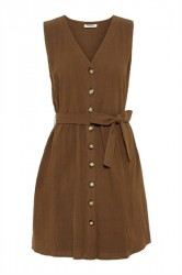 Pieces - Kjole - PC Esmo SL Dress Camp - Beech