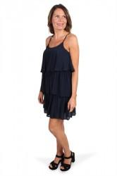 Pieces - Kjole - PC Ezma SL Dress - Navy Blazer
