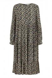 Pieces - Kjole - PC Frya LS Midi Dress - Black/Misty Rose