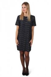 Pieces - Kjole - PC Jen Foil SS Dress - Navy Blazer