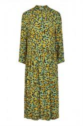 Pieces - Kjole - PC Jexa 3/4 Shirt Dress - Feldspar/Leo