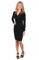 Pieces - Kjole - PC Larkina LS Dress - Black