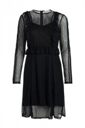 Pieces - Kjole - PC Lei LS Dress - Black