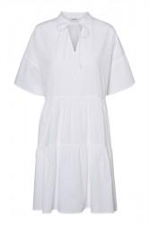 Pieces - Kjole - PC Marry SS Dress - Bright White