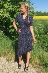 Pieces - Kjole - PC Melanie Midi Wrap Dress - Maritime Blue