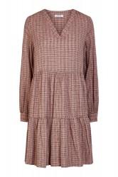 Pieces - Kjole - PC Nilena LS Dress - Misty Rose Checks