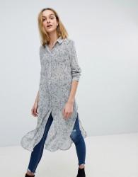 Pieces Longline Printed Dress - Multi