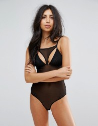 Pieces Mesh Cutout Body - Black