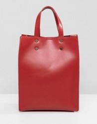 Pieces Mini Shopper Bag - Red