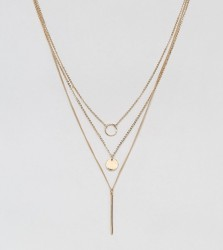 Pieces Multipack Pendant Necklace - Gold