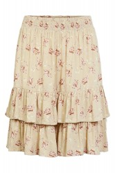 Pieces - Nederdel - Coll MW Skirt - Warm Sand