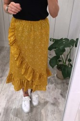 Pieces - Nederdel - PC Aida Skirt - Nugget Gold