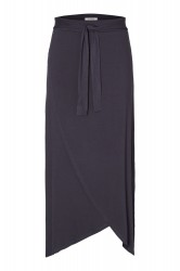 Pieces - Nederdel - PC Elonora HW Midi Wrap Skirt - Navy Blazer