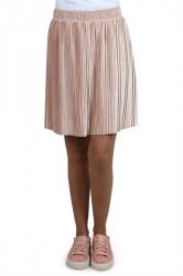 Pieces - Nederdel - PC Melga Velvet Skirt - Rugby Tan