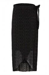 Pieces - Nederdel - PC Sina Mesh Wrap Skirt - Black/ Leopard