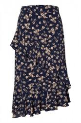 Pieces - Nederdel - PC Viola MW Midi Skirt - Navy Blazer/Flowers