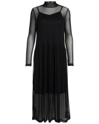 Pieces Odina ls long dress (SORT, L)