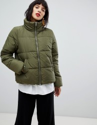 Pieces Padded Coat - Green