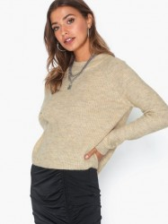 Pieces Pcellen Ls O-Neck Knit Noos Strikkede trøjer
