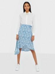Pieces Pcmaeve Hw Wrap Midi Skirt Midi nederdele