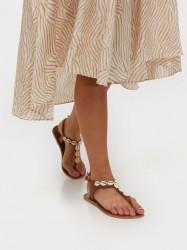 Pieces Psaggies Leather Sandal Sandaler