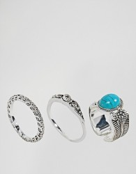 Pieces Ring Set - Silver