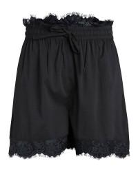 Pieces Saby lace shorts (SORT, L)