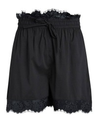 Pieces Saby lace shorts (SORT, M)