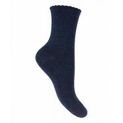 Pieces Sebby Glitter Long Socks (BLÅ, 36-38)