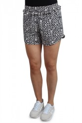 Pieces - Shorts - PC Ella Shorts - Navy Blazer/Abstract