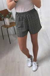 Pieces - Shorts - PC Inea Shorts - Black/Gingham Check