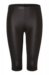 Pieces - Shorts - PC Sally MW Shiny Bicycle Shorts - Black